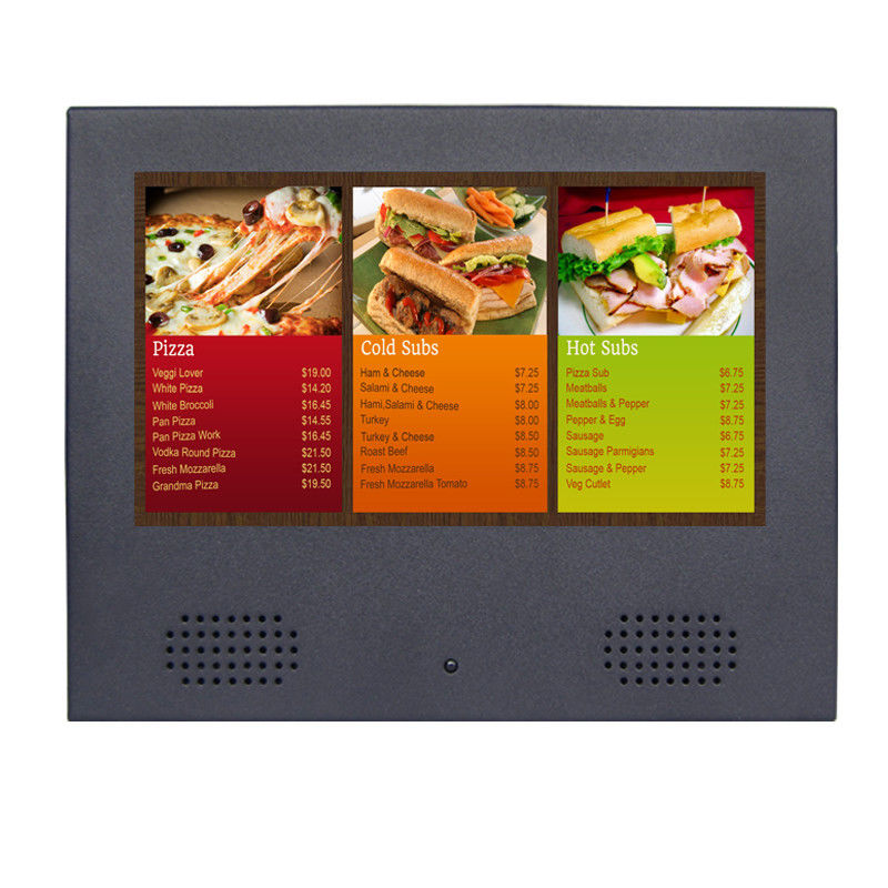 OEM High Resolution LCD Digital Photo Frame With Speaker In Front