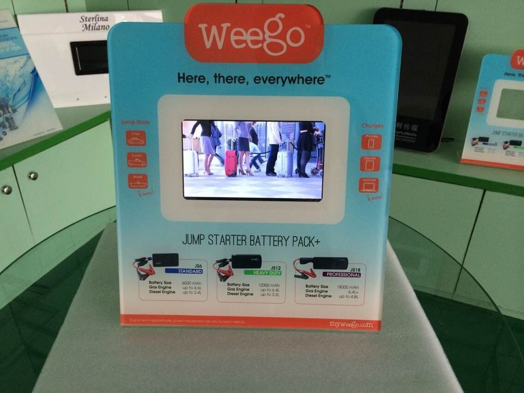 7 Inch Calender / Clock UV Printed POS Advertising Display With Video Auto Play