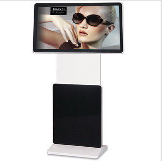 FHD MP4 / MPG2 Floor Standing LCD Advertising Player Support WIFI RJ45