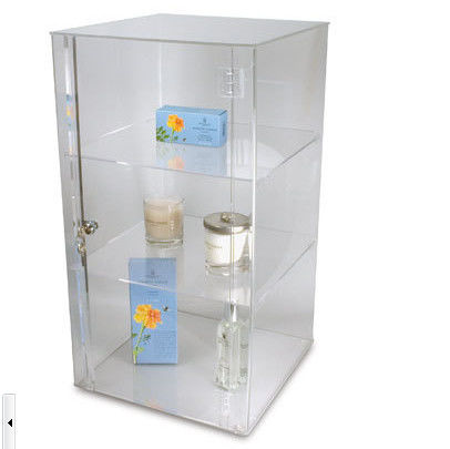 Makeup Cosmetic Acrylic Display Stands , Clear Brochure Holders And Displays